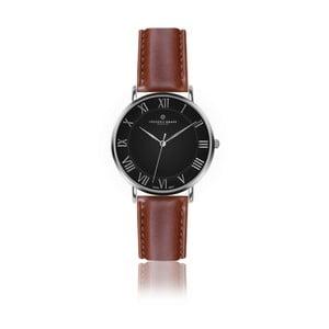 Pánské hodinky s koňakově hnědým páskem z pravé kůže Frederic Graff Silver Dom Cognac Leather