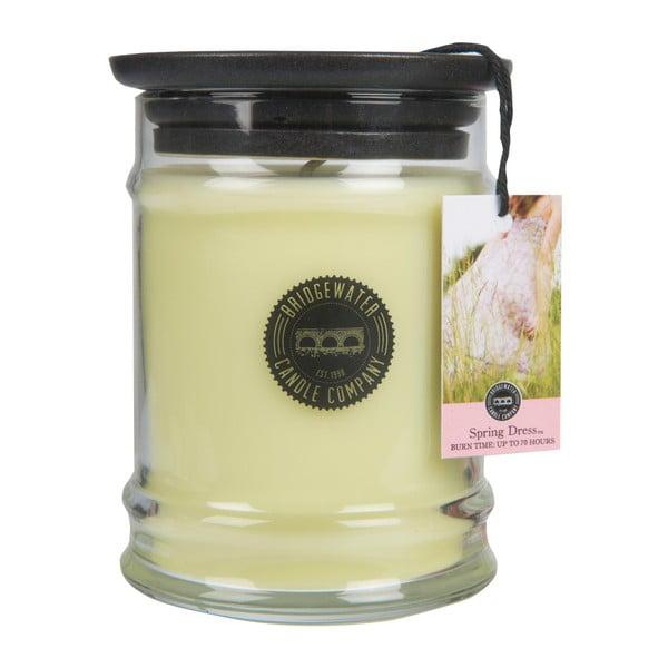 Svíčka s vůní ve skleněné dóze s vůní magnólie a citrusu Bridgewater candle Company Spring Dress, doba hoření 65-85 hodin