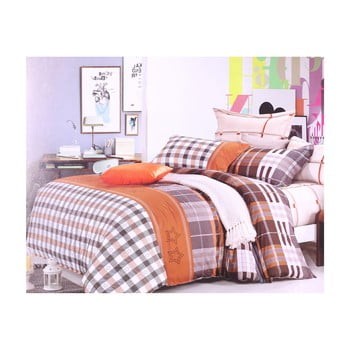 Lenjerie de pat din bumbac pentru pat de 1 persoană DecoKing Diamond Edwin, 135 x200cm de la DecoKing