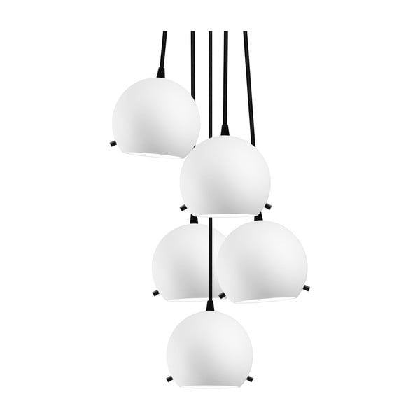 Černo-bílé matné závěsné světlo Sotto Luce MYOO Elementary 5BS