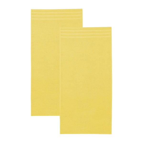 Set žlutých osušek, 50x100 cm, 2 ks