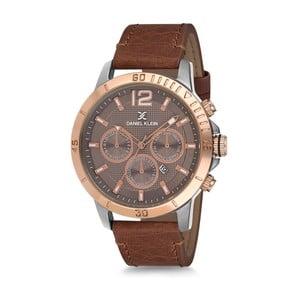 Pánské hodinky s hnědým koženým řemínkem Daniel Klein Sullaby