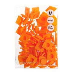 Sada 80 velkých pixelů, orange