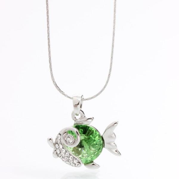 Náhrdelník se Swarovski Elements, zelená rybka