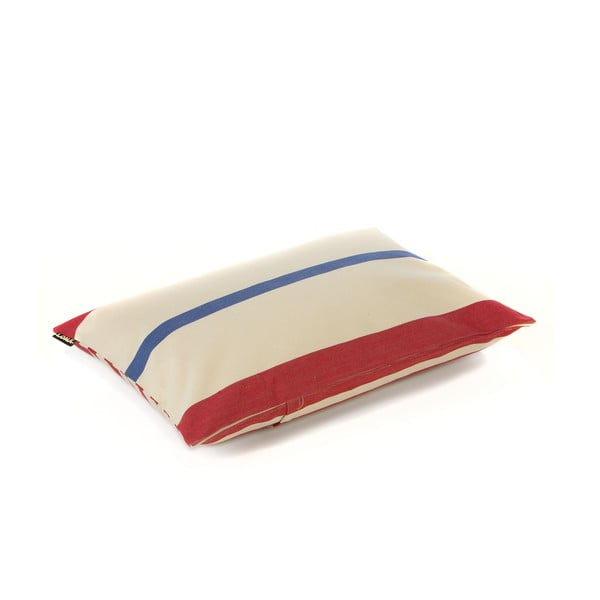 Polštář Lona 60x40 cm, červeno-modré proužky