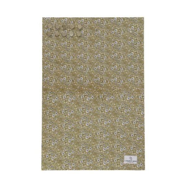 Kovová tabule na vzkazy A Simple Mess Paule Golden Yellow, 40x60cm