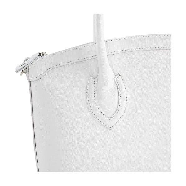 Kožená kabelka Ninety White