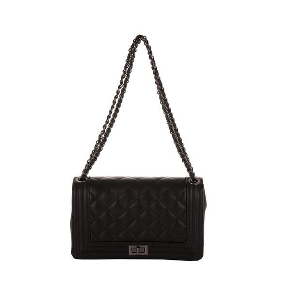 Černá kožená kabelka Andrea Cardone 2033
