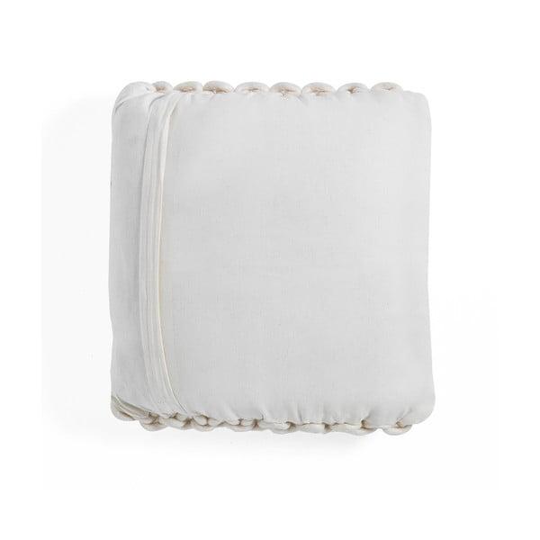 Bílý pletený polštář Tomasucci Tender, 40x40cm