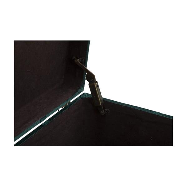 Set lavice a podnožky s úložným prostorem v zelené barvě Mauro Ferretti Blam