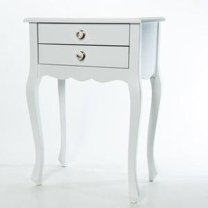 Odkládací stolek Nora White, 52x35x72 cm