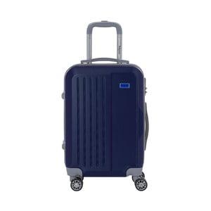 Tmavě modrý cestovní kufr na kolečkách s kódovým zámkem SINEQUANONE Iskra, 44l