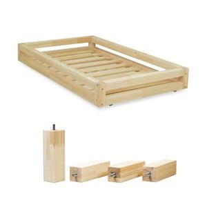 Set sertare lăcuite pentru pat și 4 picioare lungi Benlemi, pentru pat de 80 x 180 cm