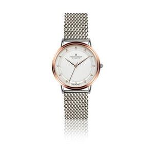 Dámské hodinky s páskem ve stříbrné barvě z nerezové oceli Frederic Graff Rustikala