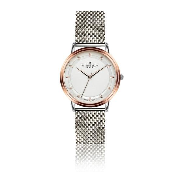Dámske hodinky s antikoro remienkom v striebornej farbe Frederic Graff Rustikala