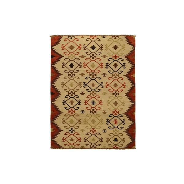 Vlněný koberec Kilim no. 146, 140x200 cm