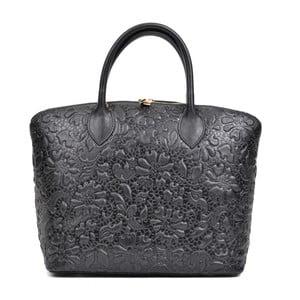 Černá kožená kabelka Anna Luchini Bloom Nero