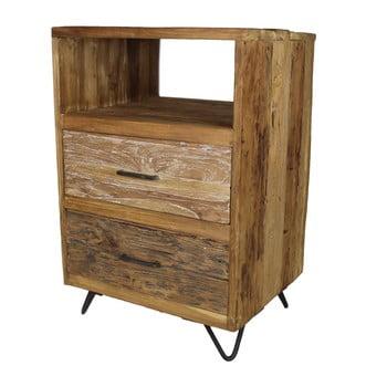 Comodă joasă din lemn de tec HSM Collection Baliaga