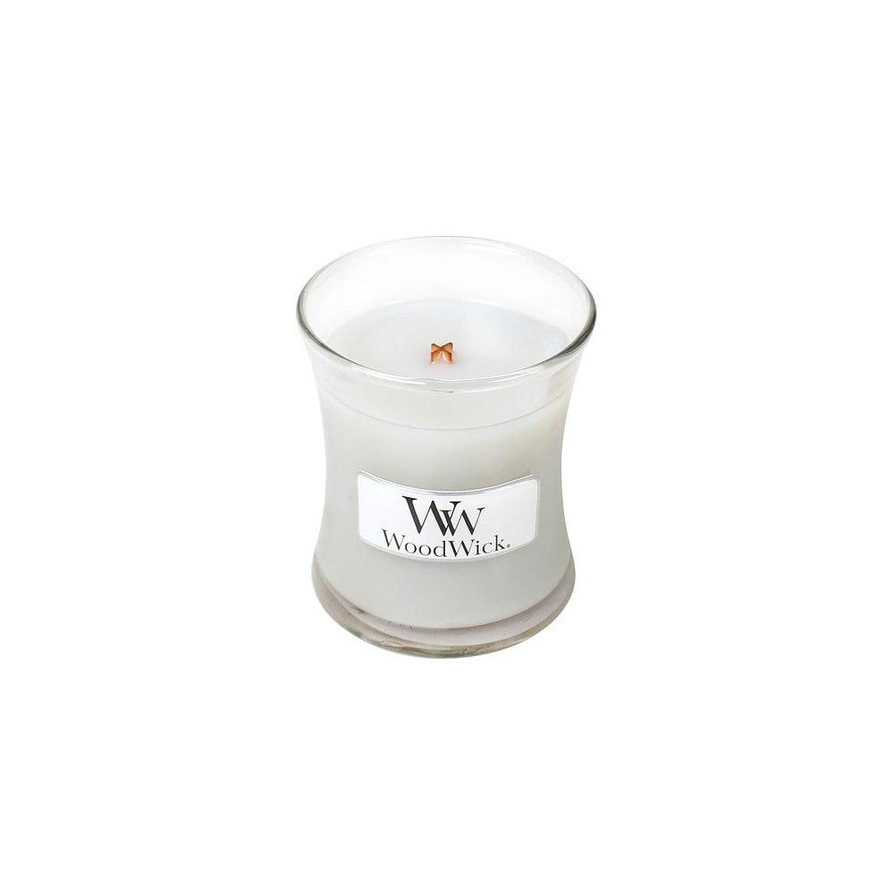 Svíčka s vůní marshmallows WoodWick Pěnové bonbóny na ohni, dobahoření20hodin