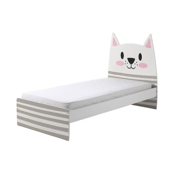Łóżko dziecięce Vipack Cat, 90x200 cm