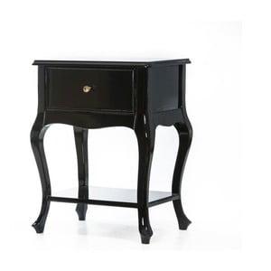 Odkládací stolek Purl Black, 44x33x60 cm