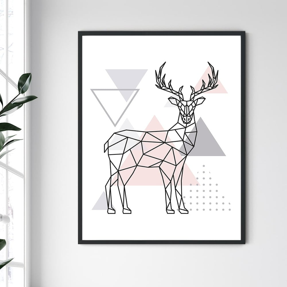 Nástěnný obraz v rámu North Carolina Frame Deer IV, 30 x 40 cm