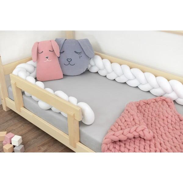 Biały ochraniacz do łóżka Benlemi Jersey, dł. 550 cm