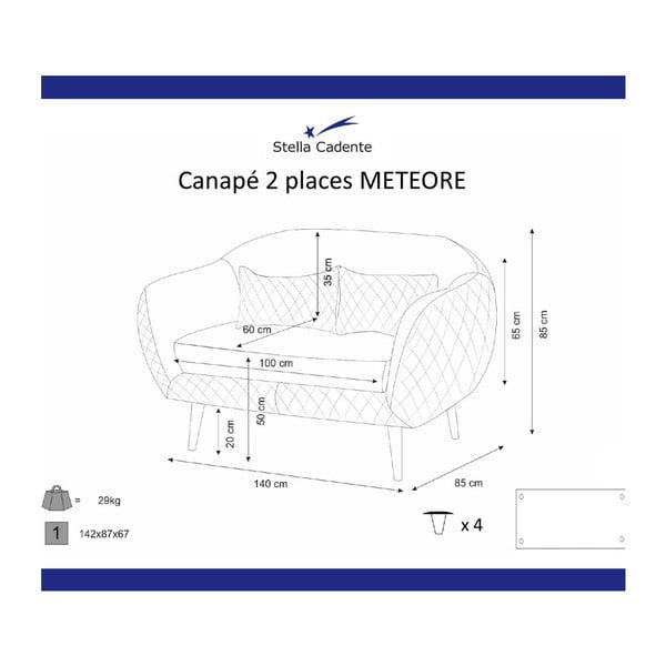 Fialová dvoumístná pohovka Scandi by Stella Cadente Maison Meteore