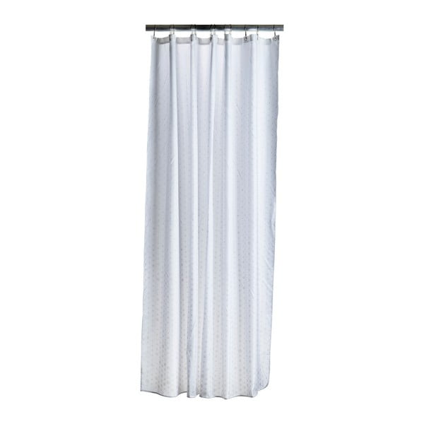 Perdea duș Zone Drops, alb - crem