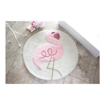 Covoraș de baie Confetti Bathmats Flamingo, Ø 90 cm de la Chilai Home by Alessia