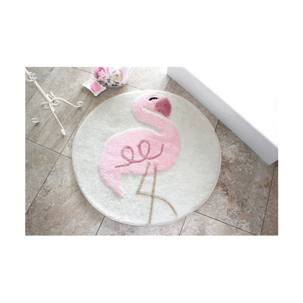 Covoraș de baie Confetti Bathmats Flamingo, Ø 90 cm