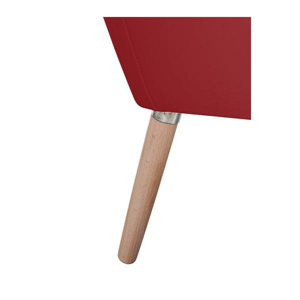 Červené koženkové křeslo Max Winzer Alegro