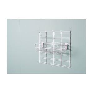 Bílý závěsný úložný box Compactor Merho, 46 x 16,7 x 13 cm