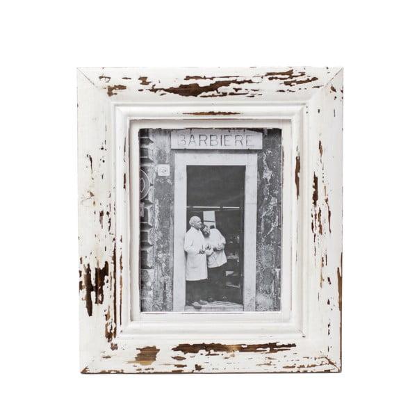 Barna-fehér képkeret, 20 x 25 cm-es fotóhoz - Ego Dekor