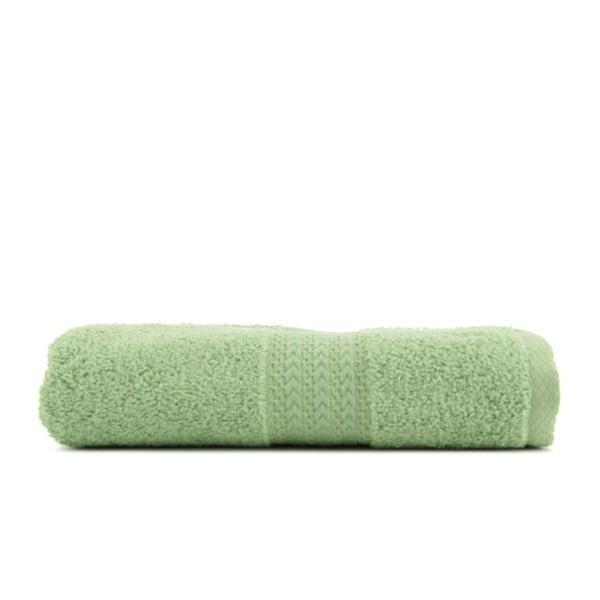 Zelený ručník z čisté bavlny Sunny, 50 x 90 cm