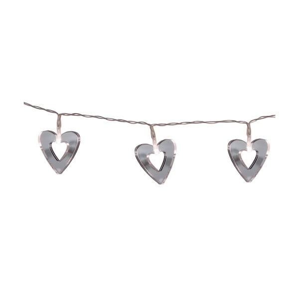 Světelný řetěz Hearts 90 cm, zrcadlový