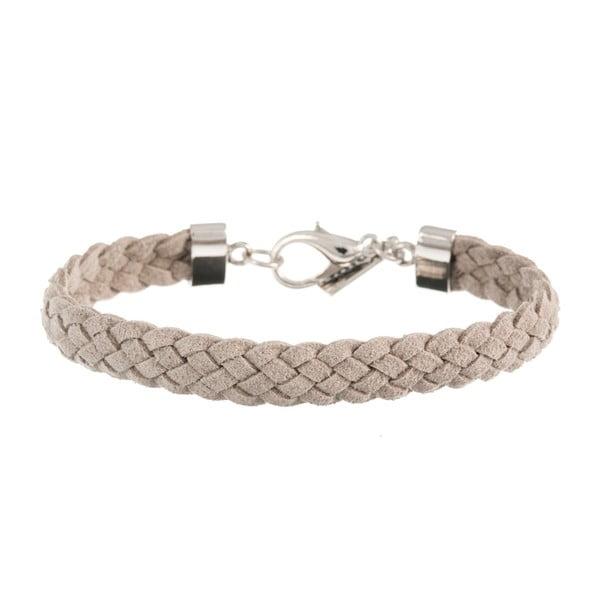 Náramek Strand braided silver, light grey