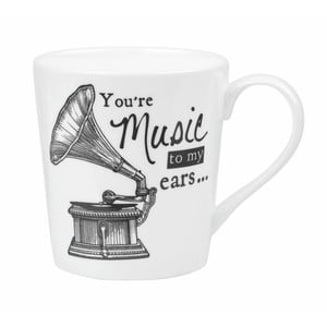 Porcelánový hrnek Churchill China Gramophone, 300 ml