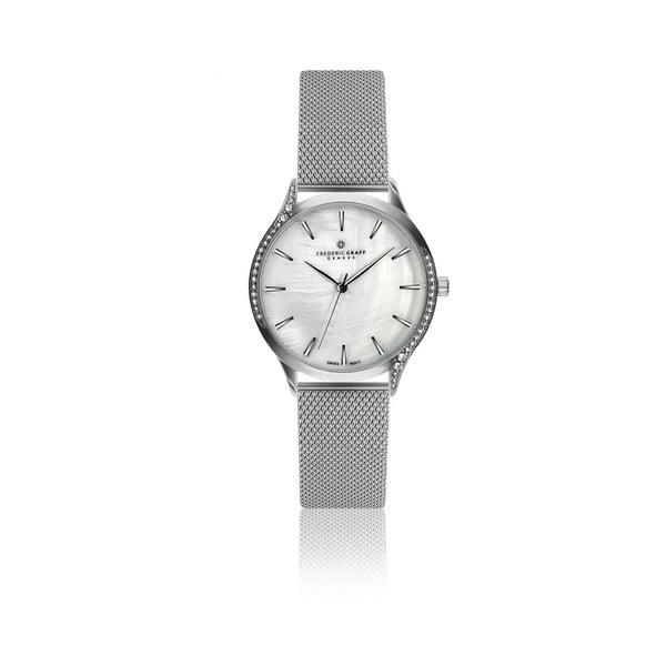 Dámské hodinky s páskem ve stříbrné barvě z nerezové oceli Frederic Graff Esmeralda
