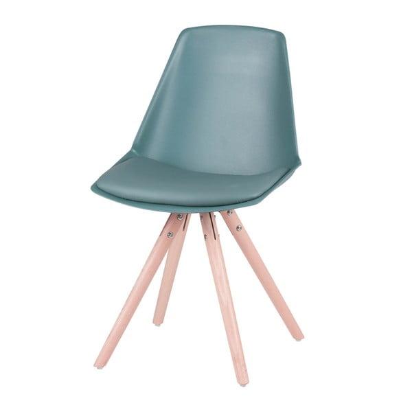 Set 4 scaune cu picioare din lemn de pin Sømcasa Bella, verde