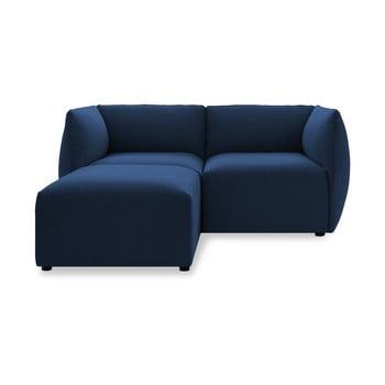 Canapea cu două locuri și șezlong Vivonita Cube, albastru închis de la Vivonita