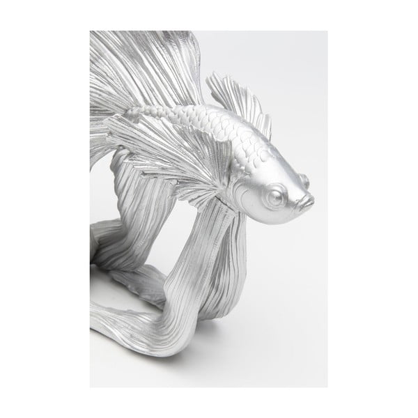 Statuetă decorativă Kare Design Betta Fish, argintiu