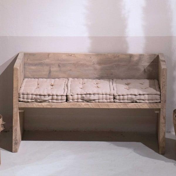 Lavice z recyklovaného dřeva Old Wood, 47x129 cm