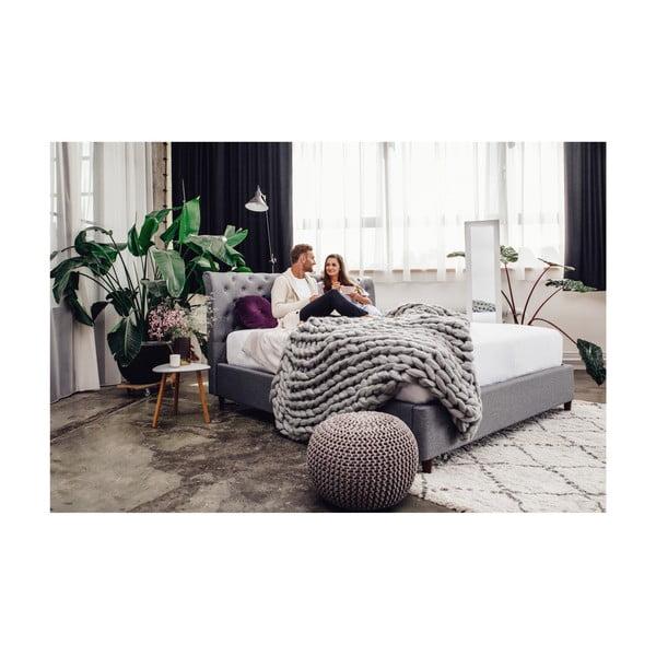 Béžová dvoulůžková postel Chez Ro Ringsted,160x200cm