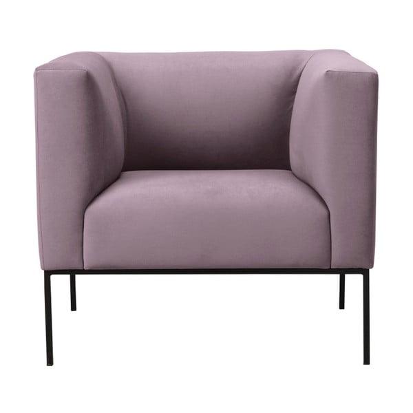 Světle růžové sametové křeslo Windsor & Co Sofas Neptune