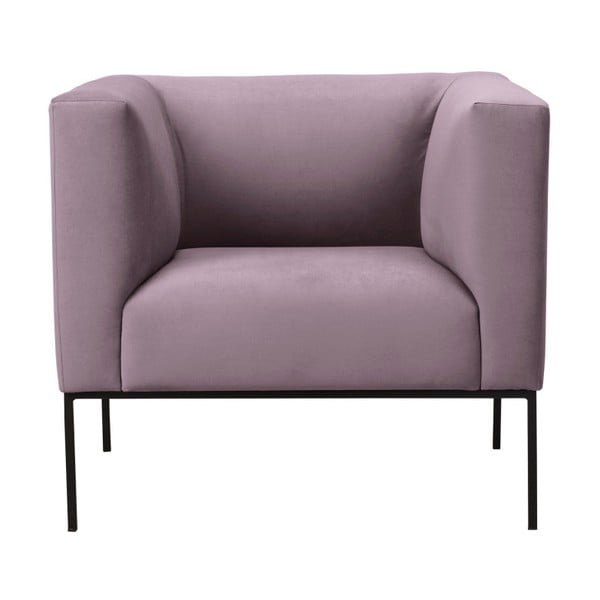 Svetloružové zamatové kreslo Windsor & Co Sofas Neptune