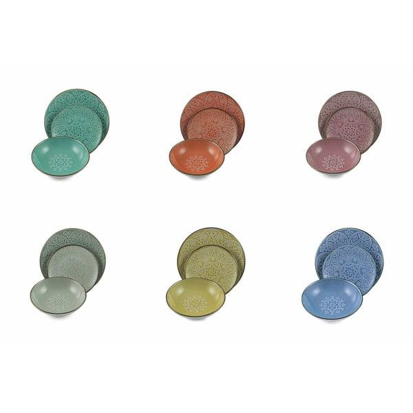 18dílná sada barevného nádobí z kameniny Villad'Este Baku