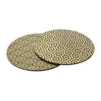 Set 4 suport farfurii din piele Premier Housewares Deco, ⌀ 25 cm