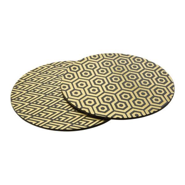 Zestaw 4 mat stołowych ze skóry ekologicznej Premier Housewares Deco, ⌀ 25 cm
