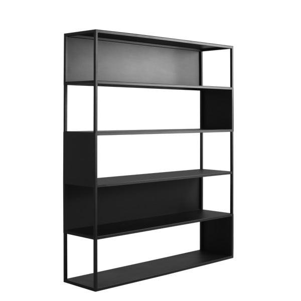 Hyllermetal fekete könyvespolc, 150 x 180 cm - Costum Form